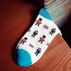 Soldier pattern man socks