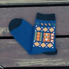 Cartoon men crew socks