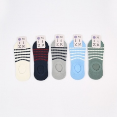 Striped men no-show socks