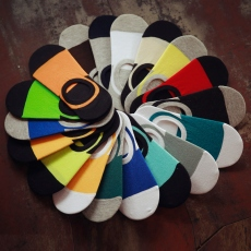 18 colors men no-show socks
