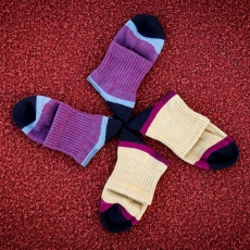 Breathable running compression socks