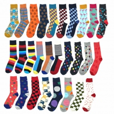 Colorful happy style men socks