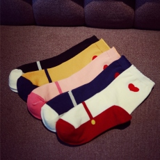 Heart crew socks for women