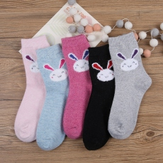 Rabbit women wool crew socks