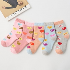 LOVE women wool crew socks