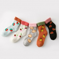 Fruit women wool socks