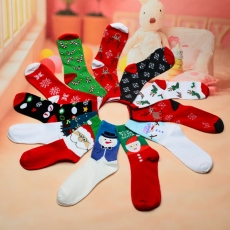 Women Christmas crew socks