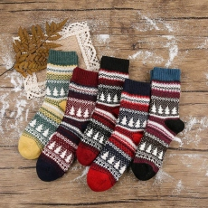 Women Christmas tree socks