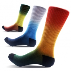 Rainbow color compression socks
